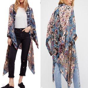 Free people Little Wing Mix Print Kimono duster